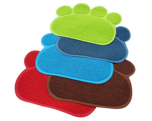 Two Meows paw shaped litter mat registration